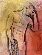 Artistic Nude Digital Art - Like A Natural Man by Mark Ashkenazi