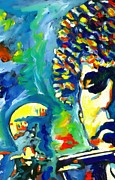 Dylan Paintings - Like A Rolling Stone by Vel Verrept