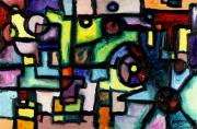 Cogs Painting Framed Prints - Like Clockwork Framed Print by Regina Valluzzi