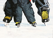 Skates Painting Prints - Like Father Like Son Print by Betty-Anne McDonald