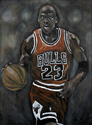 Michael Jordan Painting Framed Prints - Like Mike Framed Print by Brad Coleman