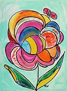 Williams Drawings Prints - Likes Attract Print by Mary Carol Williams