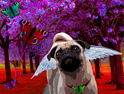 Pup Digital Art - lil Angels Protective Eyes by Tisha McGee