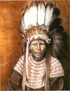 Cecill Woods Art - Lil Indian by Cecill Woods