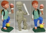 Baseball Sculpture Originals - Lil John by Ray Santoleri