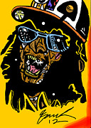Popstract Framed Prints - Lil Jon full color Framed Print by Kamoni Khem