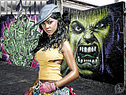 Photo Manipulation Mixed Media Prints - Lil Kim Print by The DigArtisT