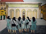 Nuns Painting Prints - LiL Nuns of Florence 2004 Print by Patricia Arroyo