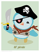 Misfits Posters - Lil Pirate Poster by Natasha Wescoat