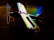 Model Aircraft Prints - Lil Plane Print by Cheryl Young