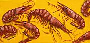 Shrimp Painting Prints - Lil Shrimp Print by JoAnn Wheeler