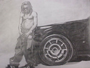 Hip Drawings - Lil Wayne - Carter II by Michael Bennett