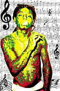 Lil Wayne Digital Art - Lil Wayne by Brad Scott