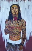 Carter Acrylic Prints - Lil Wayne Dedication 4 Acrylic Print by Christopher  Chouinard