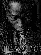 Lil Wayne Posters - Lil Wayne Distorted Mind Poster by Anibal Diaz