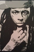 Lil Wayne Mixed Media Posters - Lil wayne Poster by  Dustin  Burnette
