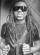 Lil Wayne Drawings Prints - Lil Wayne Print by Michael Bennett