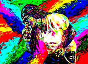 Palette Knife Acrylic Prints - Lil Wayne Acrylic Print by Mike OBrien