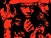 Lil Wayne Prints - Lil Wayne On Fire Print by Mike OBrien