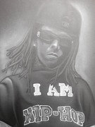 Weezy Paintings - Lil Wayne Original Art by Charles Thomas