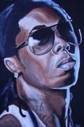 Tattoos Paintings - Lil Wayne Portrait by Mikayla Henderson