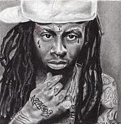 Lil Wayne Drawings Originals - Lil Wayne by Stephon Beckham