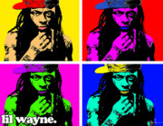 Little Wayne Digital Art - Lil Wayne by VJay Seminiano
