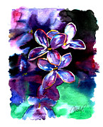 Lilac Prints - Lilac Blossom Print by Christy  Freeman