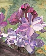 Macro Paintings - Lilac Blossom by Ken Powers