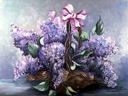 Peggy Mars - Lilac boque in a Basket