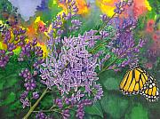 Swallowtail Prints - Lilac Print by Catherine G McElroy