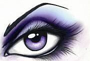 Eye Painting Prints - Lilac Print by Elaina  Wagner