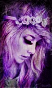 Girl Profile Digital Art - Lilac by Sheena Pike