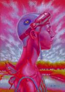 Aviator Mixed Media - Lilac Woman by Richard  Raney