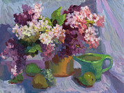 Fruit And Wine Originals - Lilacs and Pears by Diane McClary