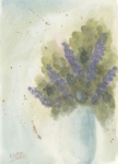 Watercolour Paintings - Lilacs by Ken Powers