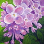 Close Up Painting Metal Prints - Lilacs Metal Print by Sharon Marcella Marston