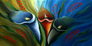 Summer Framed Prints Paintings - Liliaceous Beauty by Uma Devi