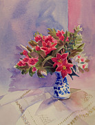 Jeanne Hall - Lilies and China Vase