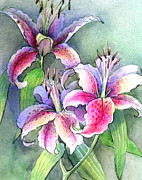 Lilies Print by Khromykh Natalia