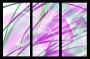 Lilies Digital Art - Lilies Of The Field triptych by Terril Heilman