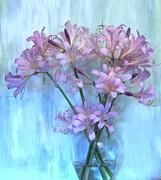 Lilies Pink Print by Marsha Heiken