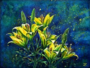 Most Viewed Framed Prints - Lilies Framed Print by Zaira Dzhaubaeva