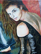 Portrait Of Woman Originals - Liljana in oil by Zoran Peshich