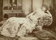 Langtry Framed Prints - Lillie Langtry (1852-1929) Framed Print by Granger