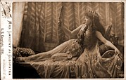 Langtry Posters - Lillie Langtry 1853-1929, As Cleopatra Poster by Everett