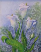 Helen Mixed Media Posters - Lillies  a Poster by Helen Thomas