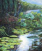 Lilly Pad Art - Lilly Pads by Gary Symington