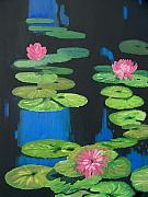 Lilly Pond Painting Prints - Lilly Pond Print by Cynthia Riley
