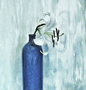 Asiatic Posters - Lily In Blue Poster by Marsha Heiken